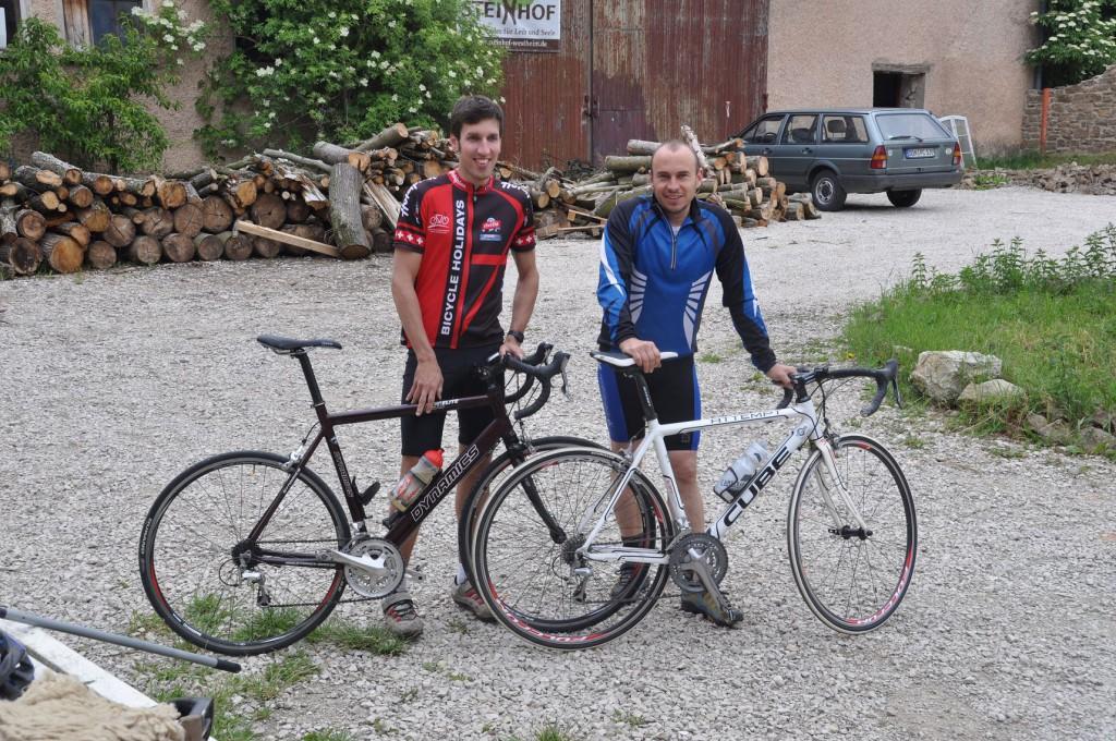 Markus und Jogi auf dem Weg nach Herrieden