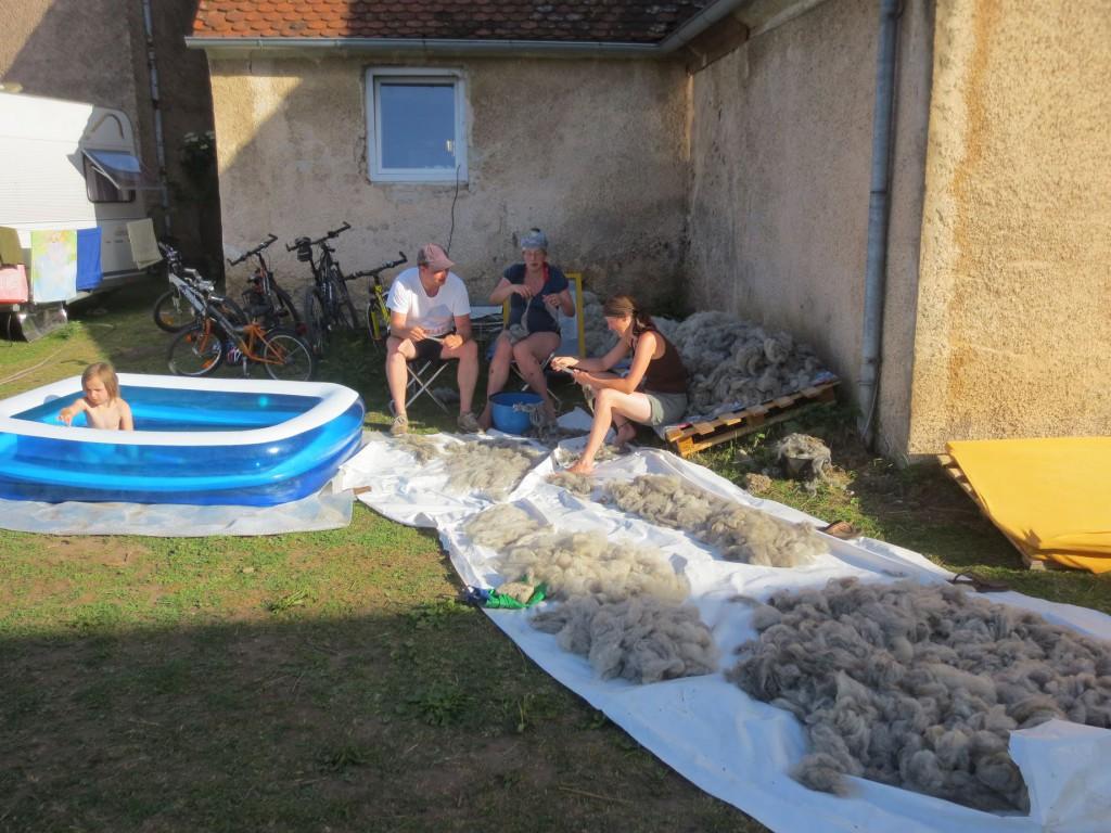 taglang Wolle waschen!